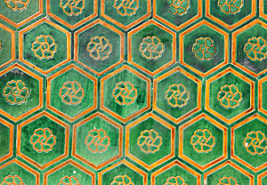 Tiles Of The Walls Of The Forbidden City Stock Photography - Image: 13645032