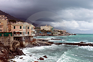 Italian Riviera Coast Royalty Free Stock Photo - Image: 13645335