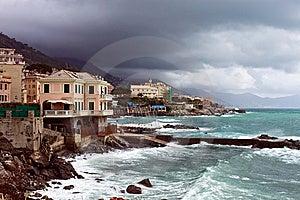 Italian Riviera Coast Royalty Free Stock Photo - Image: 13645335