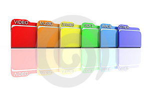Row File Royalty Free Stock Photo - Image: 13645355