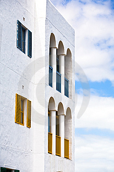 Vibrant Greek Styled Building Royalty Free Stock Photography - Image: 13645707