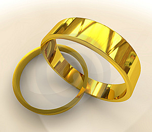 Gold Wedding Rings Royalty Free Stock Photo - Image: 13646395