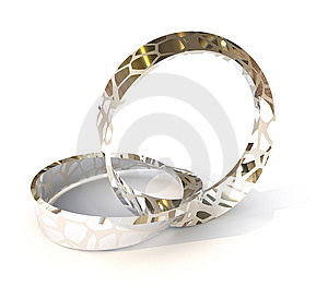 Silver Wedding Rings Royalty Free Stock Photo - Image: 13646685