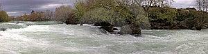 Panoramic View Of Manavgat Waterfall Stock Images - Image: 13647064