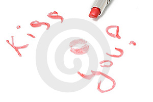 Inscription Kiss You Stock Photos - Image: 13647243