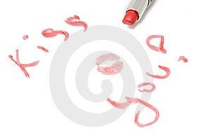 Inscription Kiss You Stock Photos - Image: 13647243