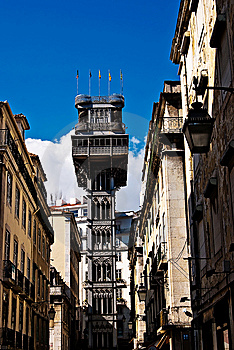 Santa Justa Elevator In Lisbon Stock Photography - Image: 13647642