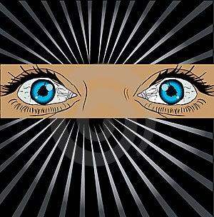 Big Spy Eyes Vector Royalty Free Stock Photo - Image: 13650315