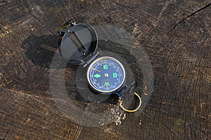 Compass On Wood Royalty Free Stock Image - Image: 13650836