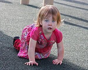 Crawling Little Girl Royalty Free Stock Image - Image: 13650986