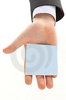 Hand With Blank Card Stock Photos - Image: 13651573