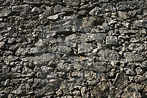 Solid Stone Wall Royalty Free Stock Photos - Image: 13652038