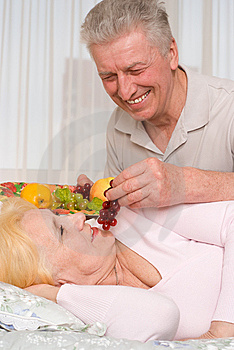 Man Brings  Fruit In Bed Stock Photography - Image: 13652142