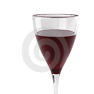 3d Render Of Glass With Wine Stock Photos - Image: 13653063