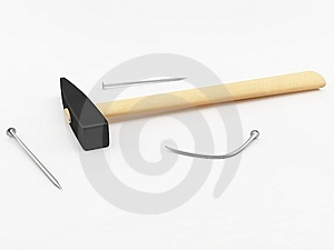 Hammer And Nails Stock Photos - Image: 13658123