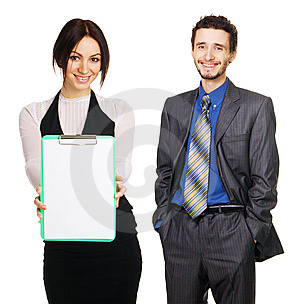 Business Team Over White Background Royalty Free Stock Photos - Image: 13658648