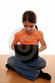 Girl Using Laptop Stock Photography - Image: 13659382