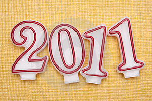2011 New Year On Yellow Royalty Free Stock Images - Image: 13660089