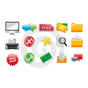 Icon Pack Royalty Free Stock Images - Image: 13661249