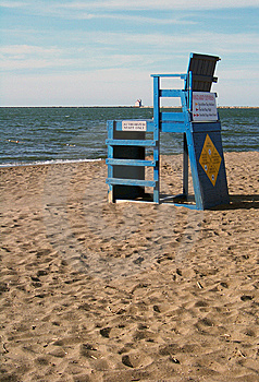 Lifeguard Chair On Beach Stock Image - Image: 13661331