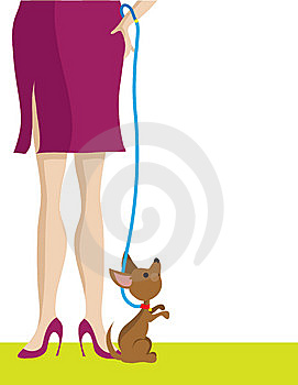 Legs And Dog Royalty Free Stock Photo - Image: 13661355