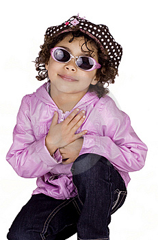 Charming Child With Sunglasses Stock Image - Image: 13661611