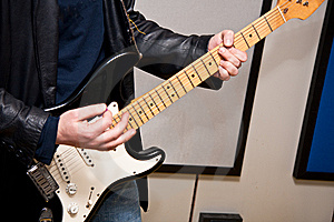 Guitar Player Doing A Solo Royalty Free Stock Photography - Image: 13661967