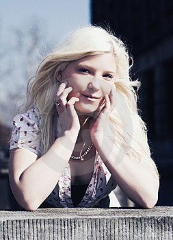 Portrait Of Blond Girl With Long Hair Stock Photos - Image: 13668383