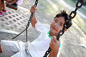 Boy On A Swing Stock Images - Image: 13669804