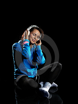 Woman Listening To Music Royalty Free Stock Photo - Image: 13671995