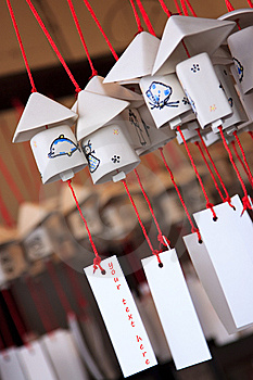 Decorative Japanese Bell Or Furin Stock Image - Image: 13672001