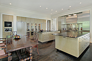 Kitchen with eating area Stock Photography