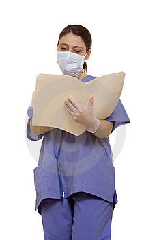 Doctor Reading A Chart Royalty Free Stock Images - Image: 13673049