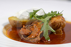 Stewed Chicken Leg Royalty Free Stock Photography - Image: 13674337