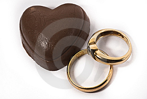 Chocolate And Rings Royalty Free Stock Photo - Image: 13675065