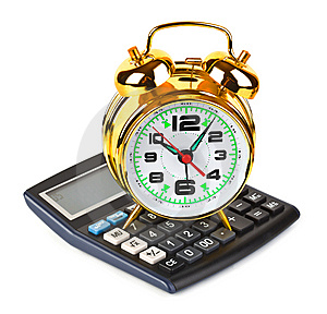 Calculator And Clock Royalty Free Stock Photography - Image: 13675237