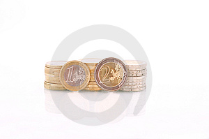 Pile Of Euro Coins Royalty Free Stock Image - Image: 13675416