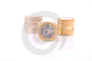 Pile Of Euro Coins Royalty Free Stock Image - Image: 13675466