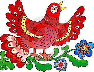 Red Bird Sing Royalty Free Stock Images - Image: 13679959