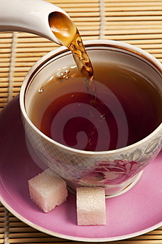 Cup In Which Pour Tea Royalty Free Stock Images - Image: 13680009