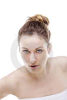 Girl Looks At You Stock Photography - Image: 13680352
