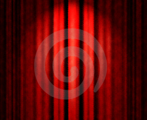 Red theater curtain Free Stock Photo