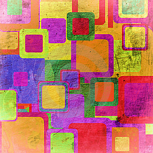 Squares On The Grunge Royalty Free Stock Photography - Image: 13681747