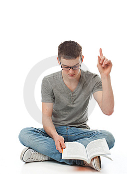 The Young Student With The Book Royalty Free Stock Photos - Image: 13682468