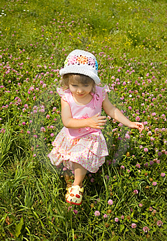 The Girl Runs On A Grass Stock Photography - Image: 13683732
