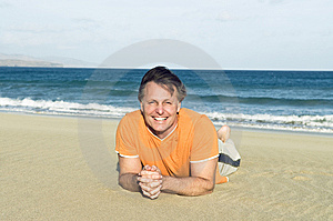 Happy Smiling Forties Man Stock Photo - Image: 13684330