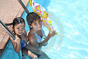 Friends At The Swimming Pool Stock Photography - Image: 13684472