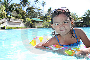Girl At The Pool Royalty Free Stock Photos - Image: 13684478
