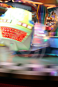 Blurred Moving Joy Ride At Carnival Royalty Free Stock Images - Image: 13685009