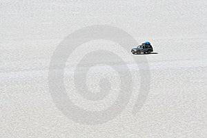 Driving Across The Salar De Uyuni Royalty Free Stock Photo - Image: 13685175